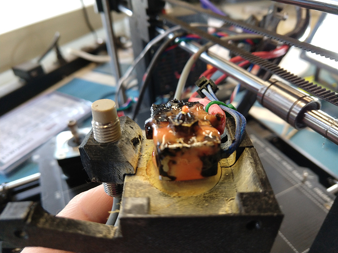 3D printer hot end before cleaning 1920